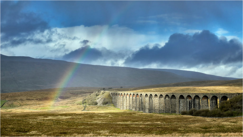 Rainbow over Ribblehead Viaduct