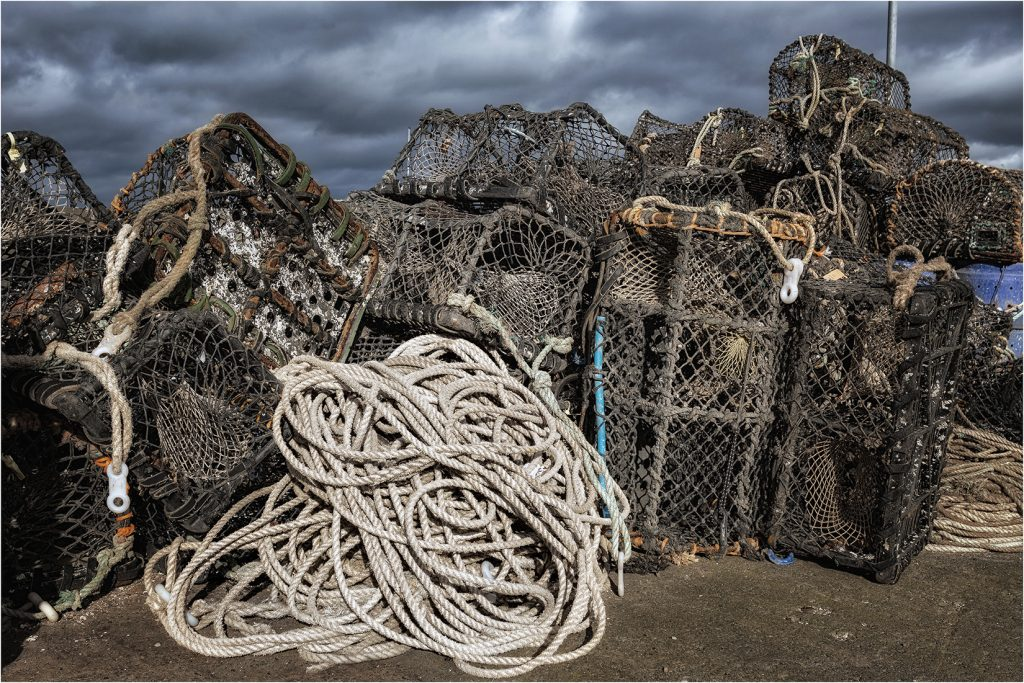 Lobster Pots at Seahouses Harbour