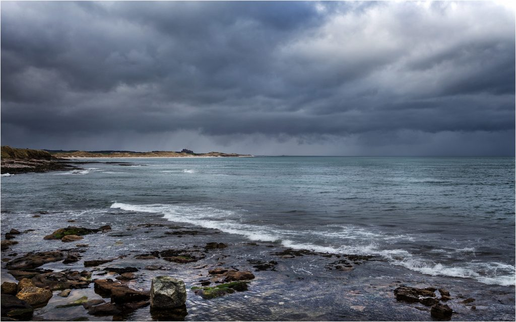 Stormy Weather over Bamburgh Castle