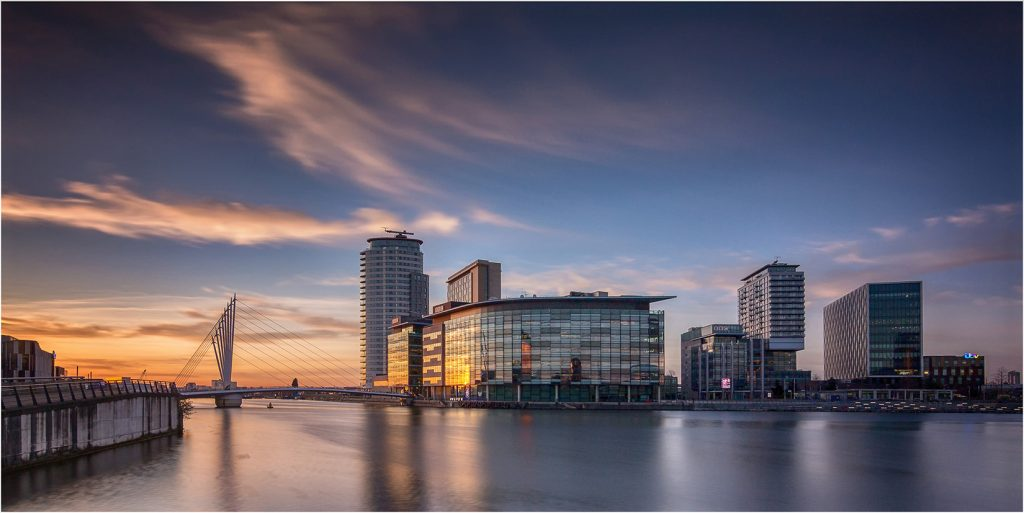 Media City at Sunset