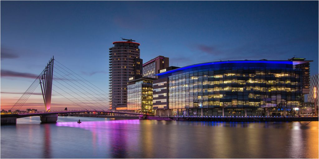 Media City and Media City Footbridge