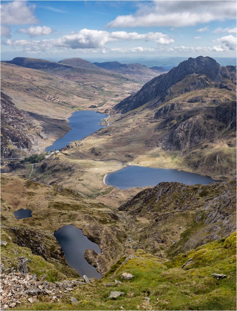 Llyn Ogwen and Idwal from Y Garn