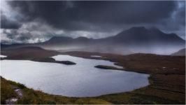Rain at Knockan Crag