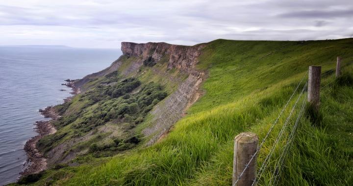 Gad Cliff From Tyneham Cap
